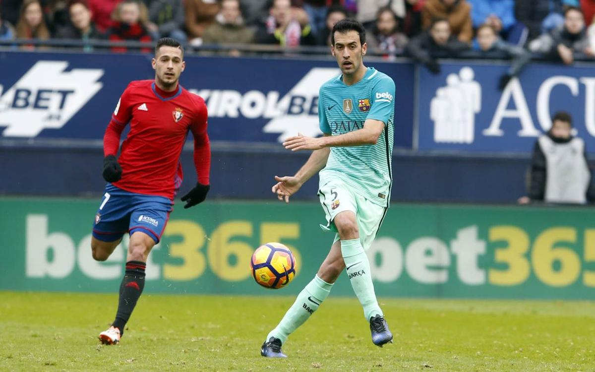 Sprained right ankle for Sergio Busquets