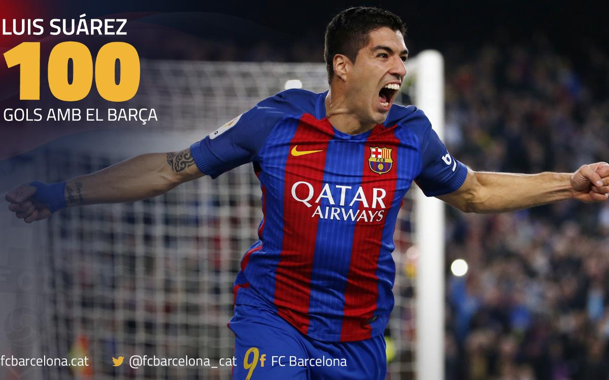 Els 100 gols de Luis Suárez amb el Barça, al detall
