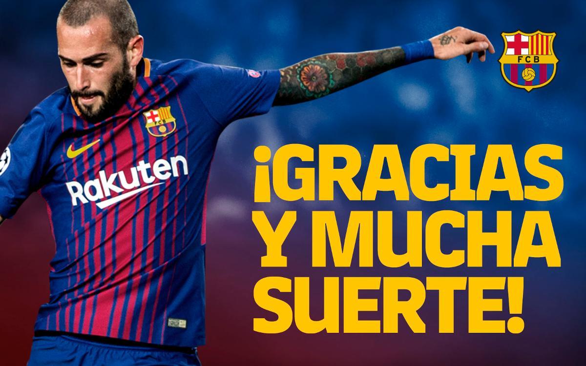 Acuerdo con el Sevilla FC por el traspaso de Aleix Vidal