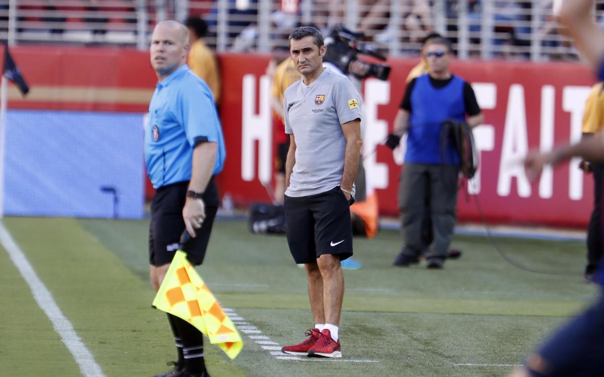 Ernesto Valverde: 'We leave with good sensations'