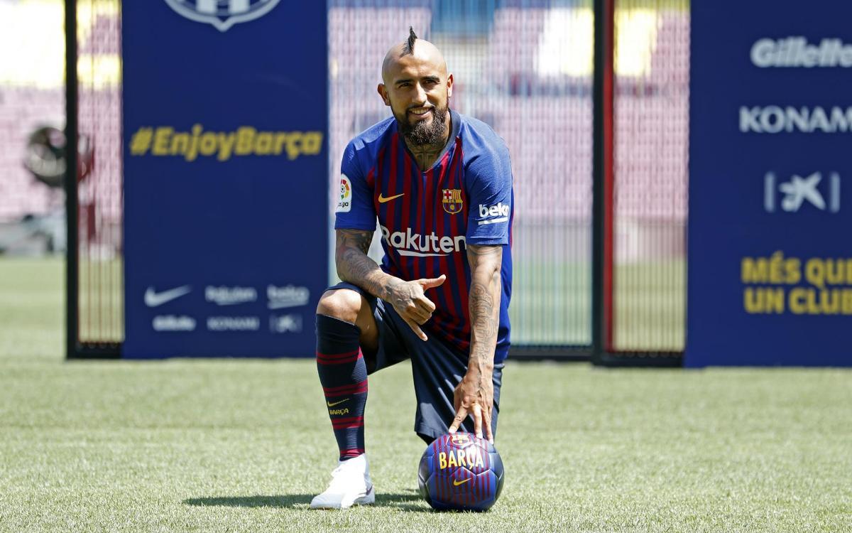 Así ha sido la presentación de Arturo Vidal como nuevo jugador del FC Barcelona
