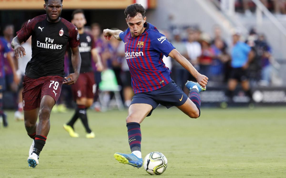 Highlights of AC Milan v Barça on US tour