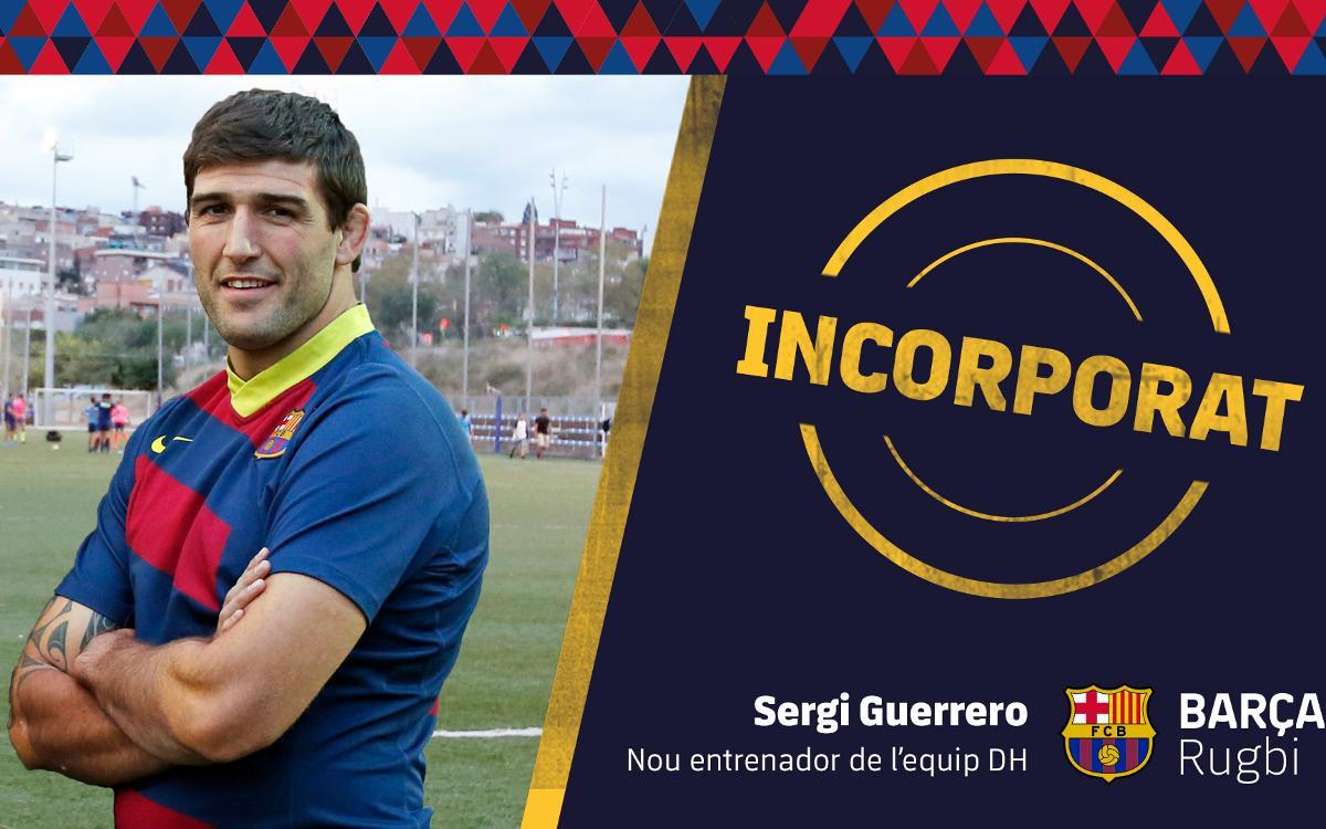 Sergi Guerrero agafa el relleu a la banqueta del Barça de rugbi