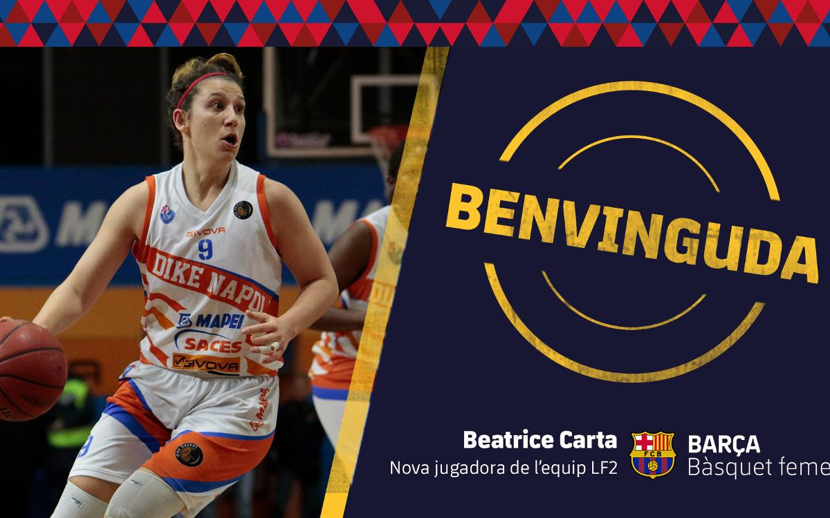 Beatrice Carta se incorpora al Barça CBS