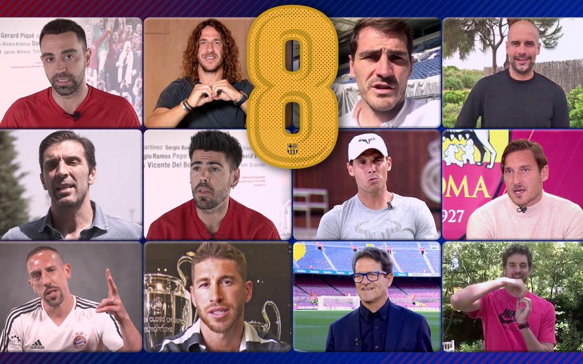 Palabras infinitas para Andrés Iniesta de las estrellas del deporte