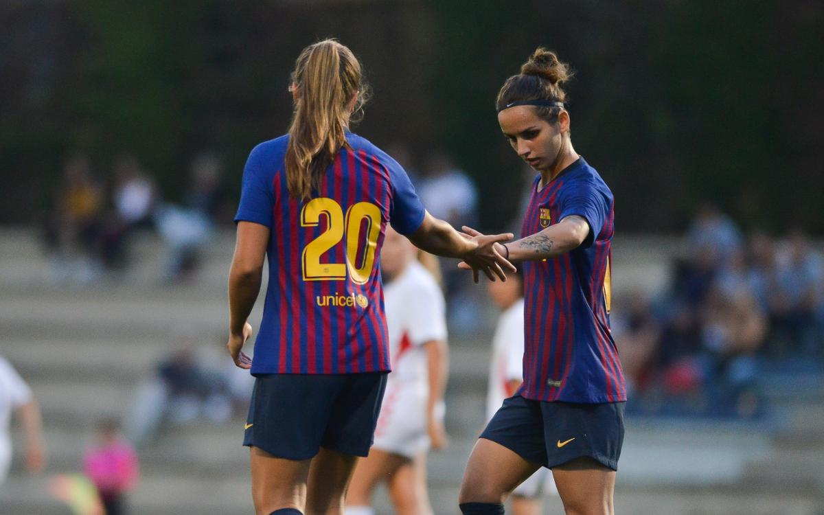FC Barcelona Femení – Sant Gabriel: Agafant ritme a base de gols (7-0)