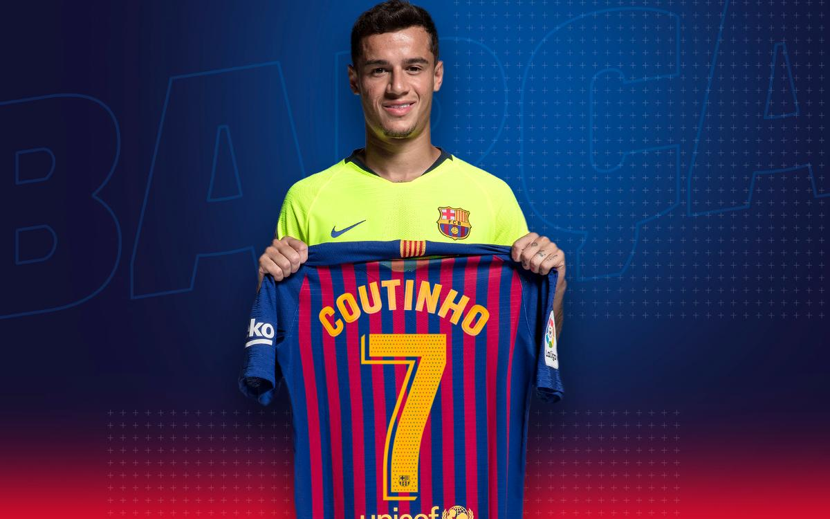 new products 0e2b9 57cb2 Philippe Coutinho, FC Barcelona's new No.7