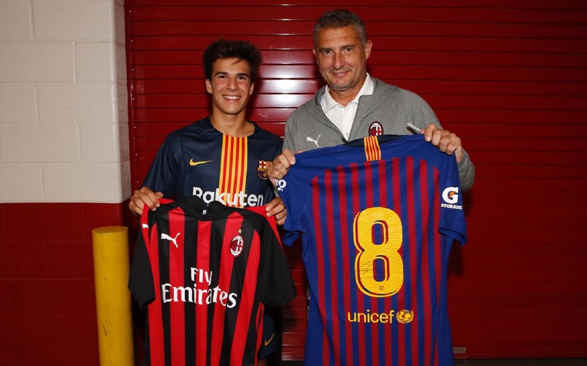 """Daniele Massaro: """"Riqui Puig juga amb molta personalitat, sempre amb el cap amunt"""""""
