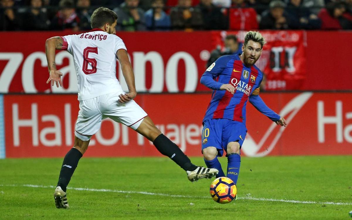 Reviu l'exhibició de Leo Messi a Sevilla