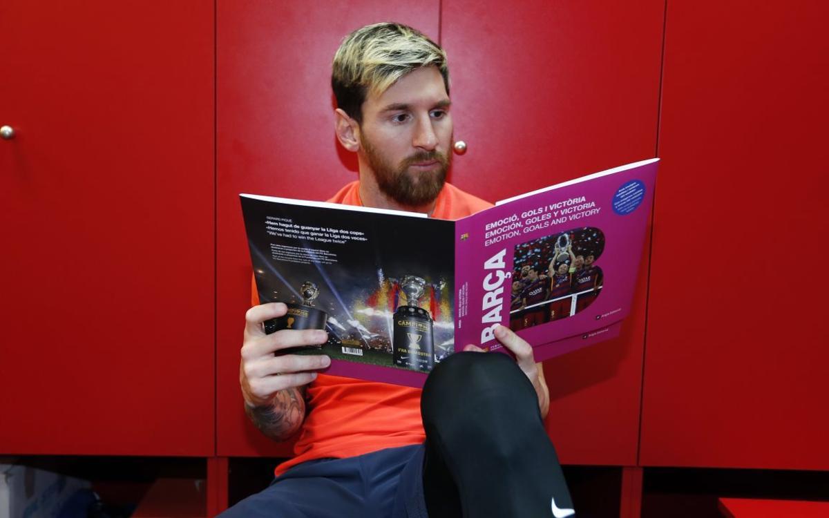 El libro del Barça 'Emoción, goles y victoria', ya a la venta