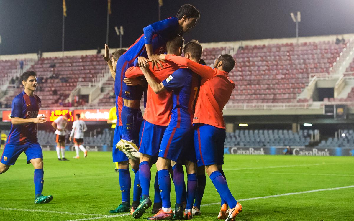 Barça B v València Mestalla: First beats second (3-1)