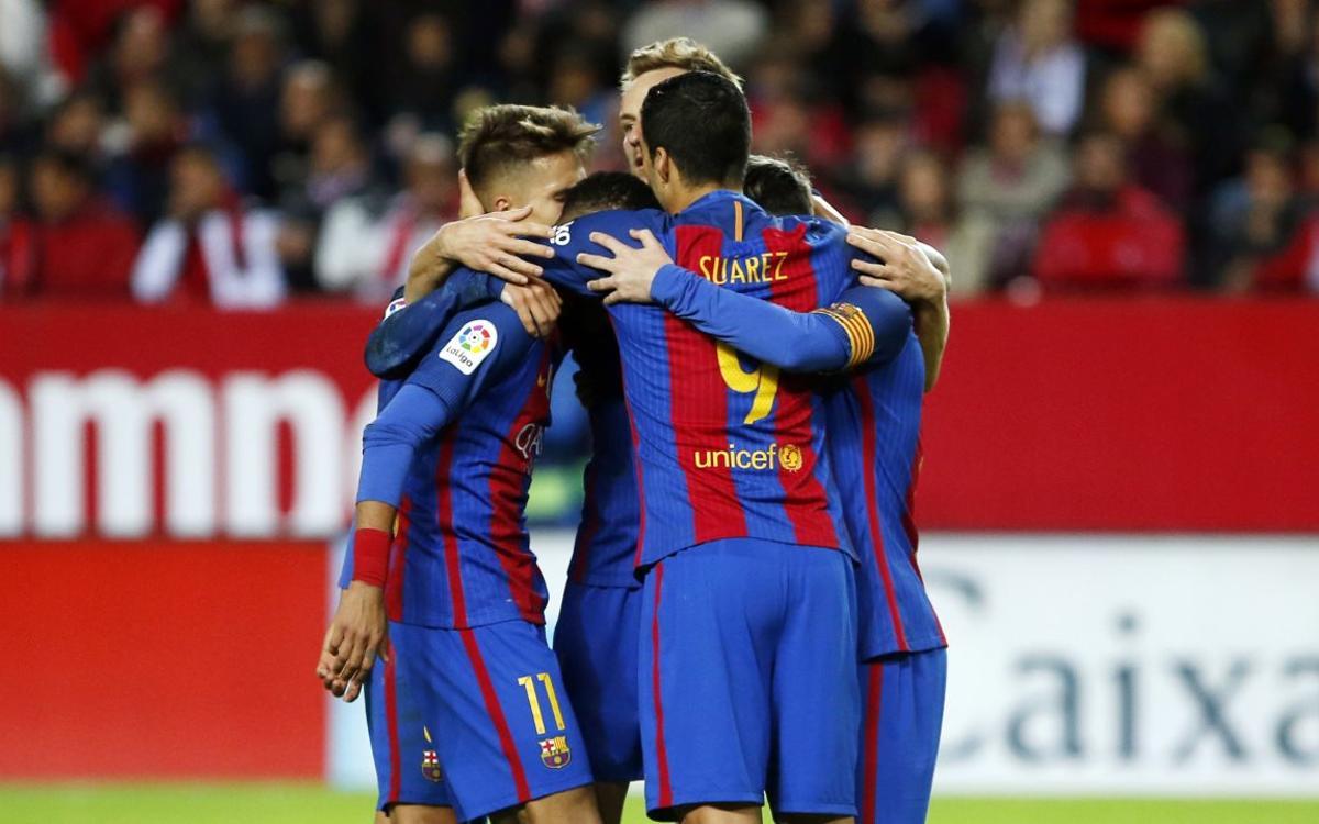 El Barça, l'únic equip que conquista el Pizjuán