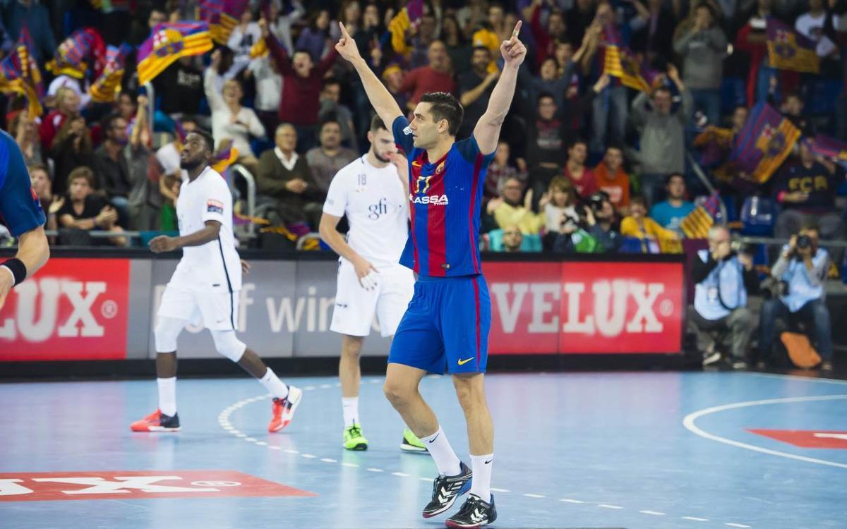 FC Barcelona Lassa v PSG: Eighth win from nine (35-32)