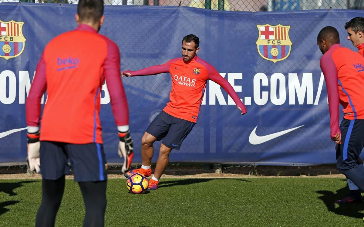 First FC Barcelona training session of international week