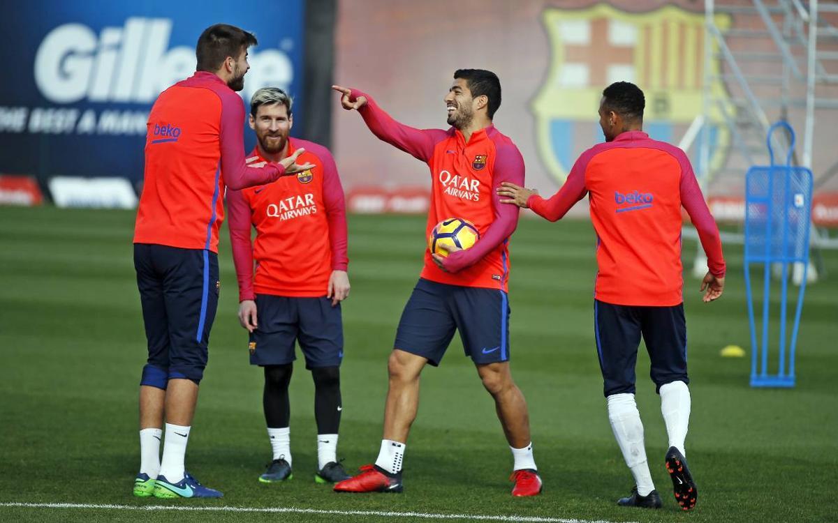 Messi y Suárez, novedades para viajar a Glasgow
