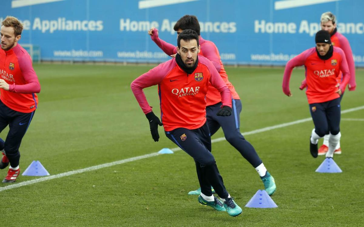 Training schedule for a crucial week including a Copa del Rey fixture and the Clásico