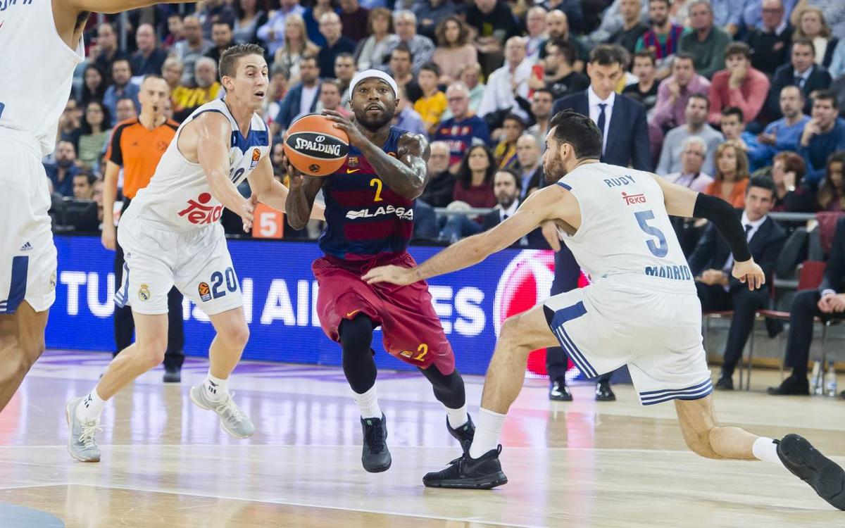 FC Barcelona v Real Madrid: Visitors' sharpshooting decisive (63-102)