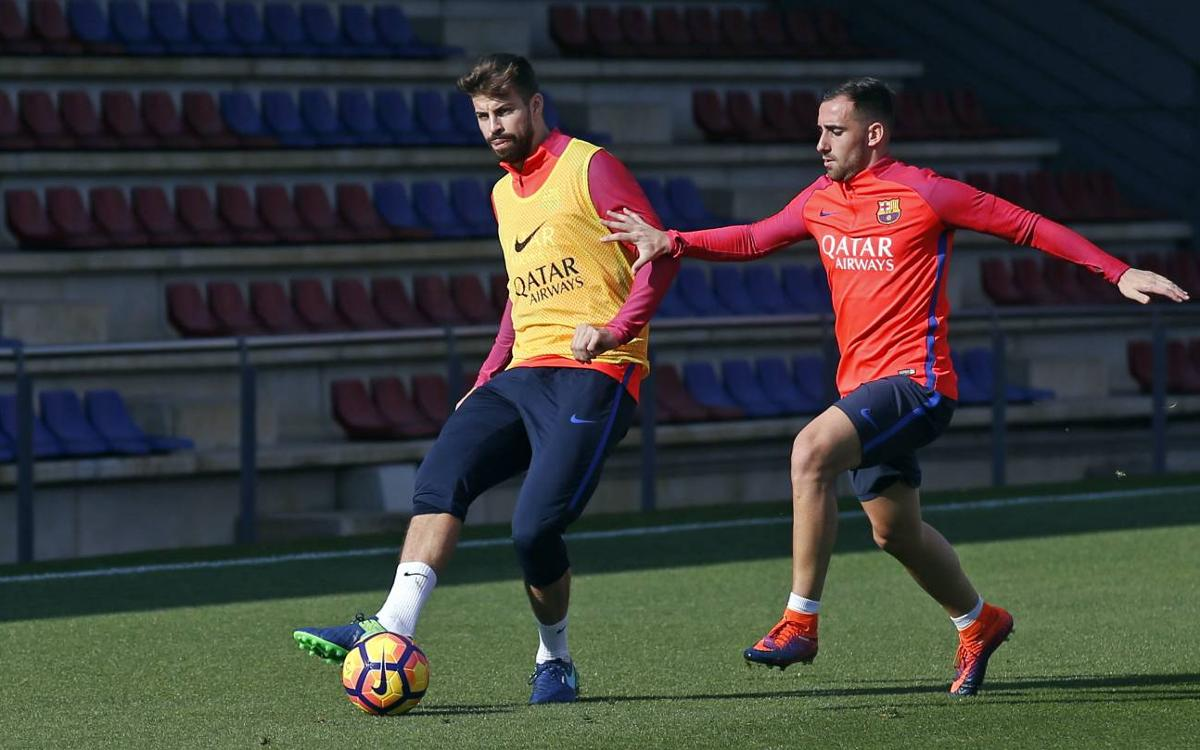 Gerard Piqué, Jordi Alba and Aleix Vidal, fit and in the squad