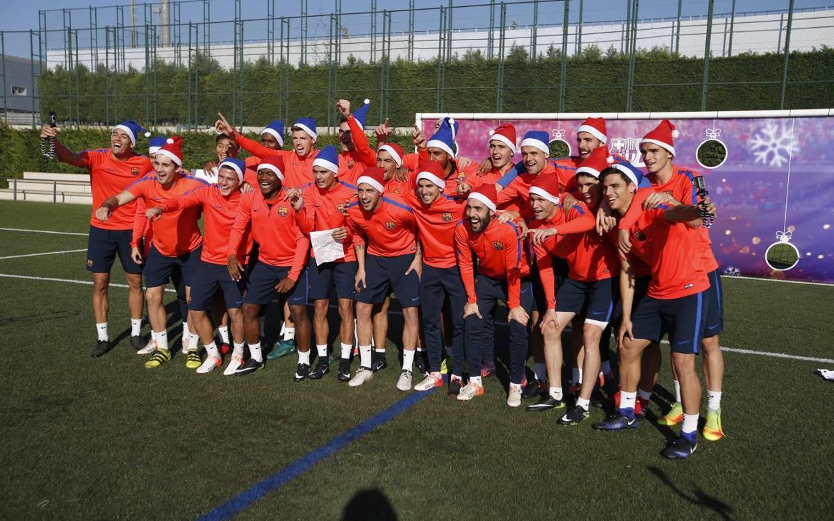 El Barça B, protagonista de la felicitación de Navidad más divertida