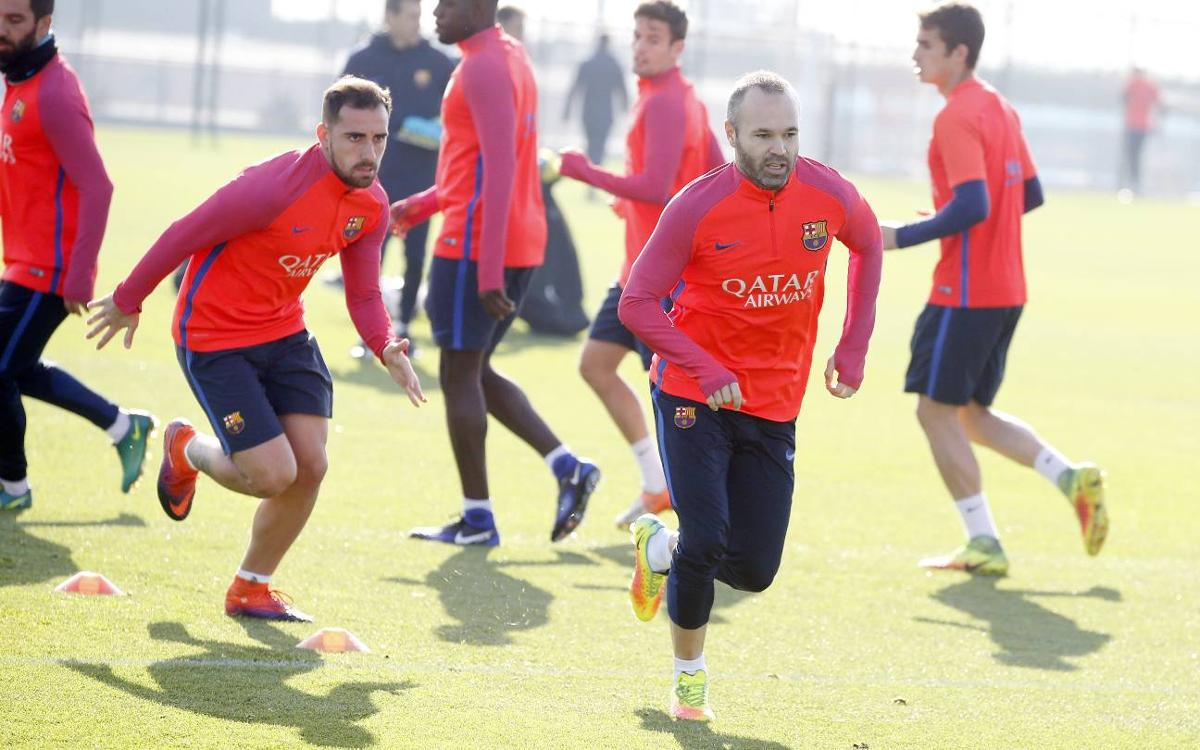 Final training session before the trip to Alicante
