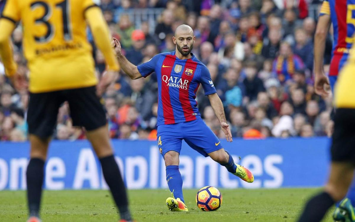 300 up for Javier Mascherano