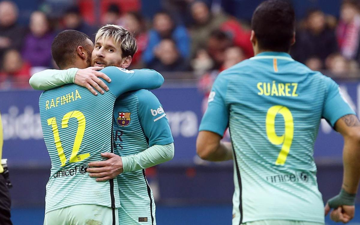 CA Osasuna - FC Barcelona: Vuelve la sonrisa, también en la Liga (0-3)