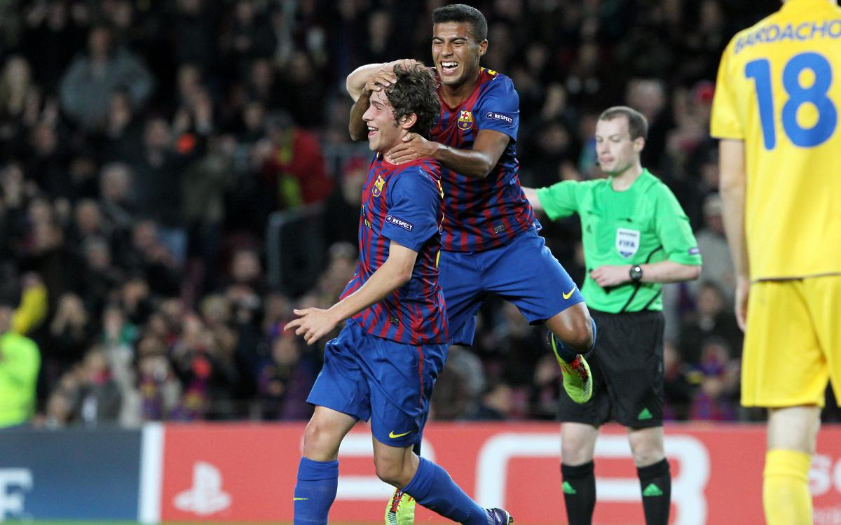 Five years since Sergi Roberto's first goal for FC Barcelona