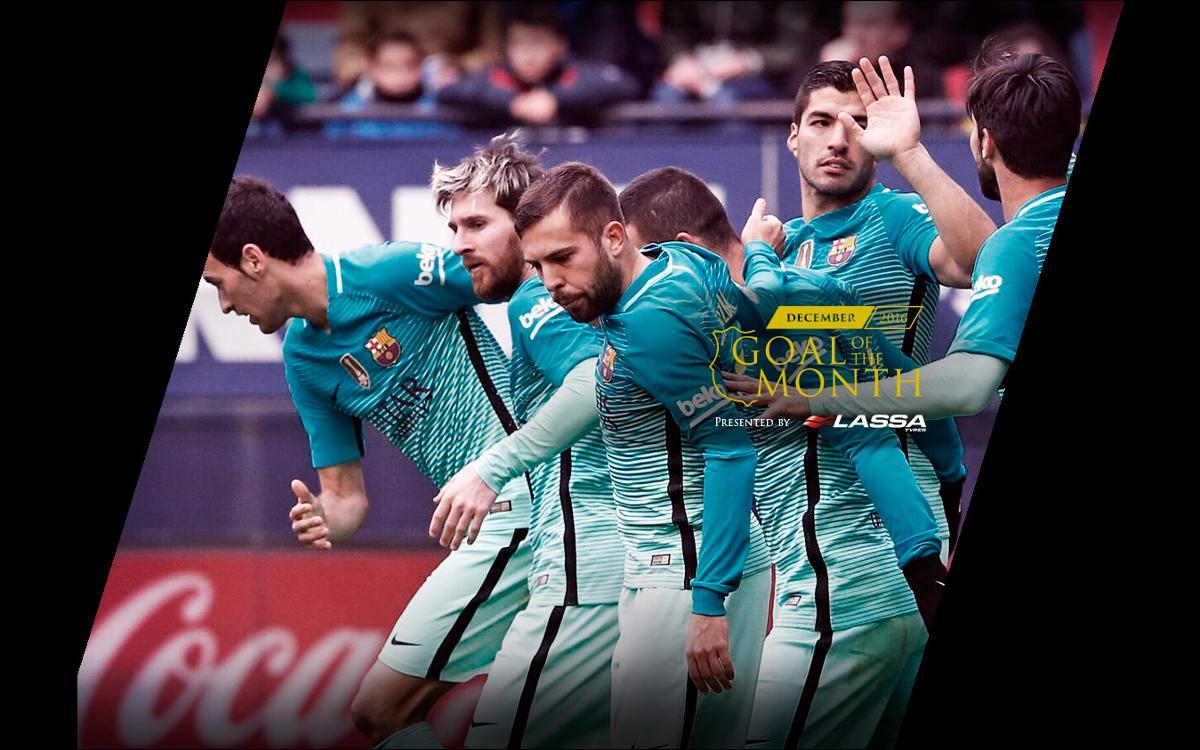 Messi se lleva el último gol del año