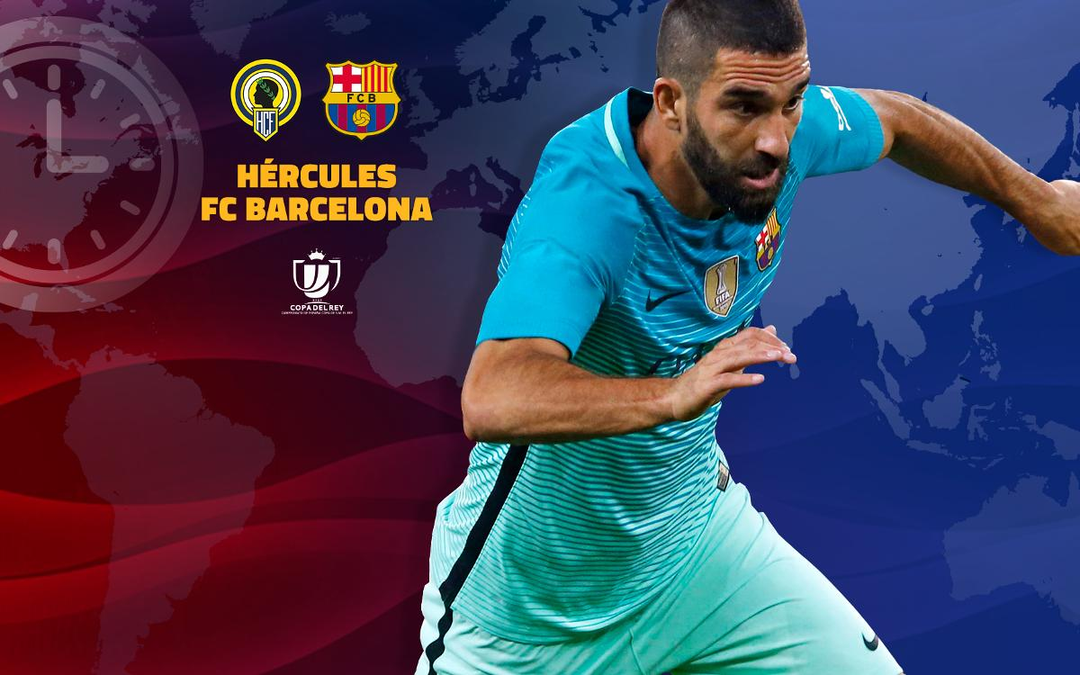 Where and when to watch Hércules v F.C. Barcelona