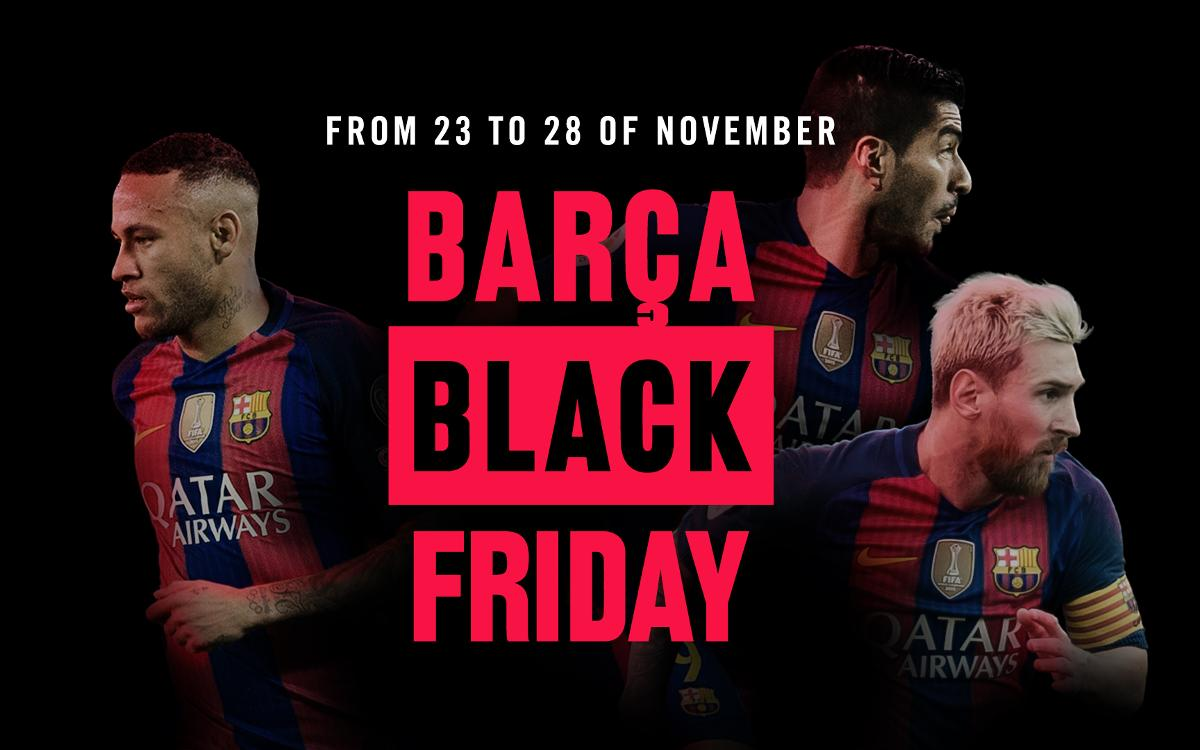 Black Friday discounts on all kinds of FC Barcelona products