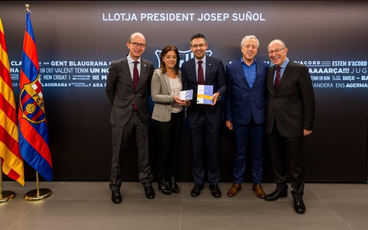 El Barça apoya a 'La Marató'