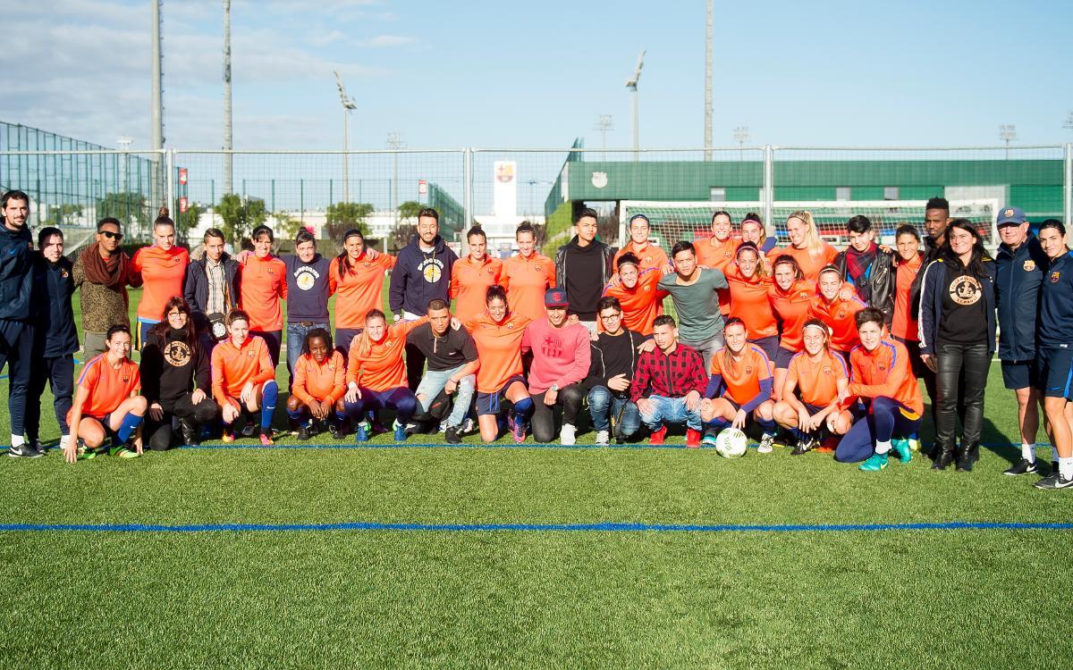 FC Lampedusa St. Pauli visit FC Barcelona women's team