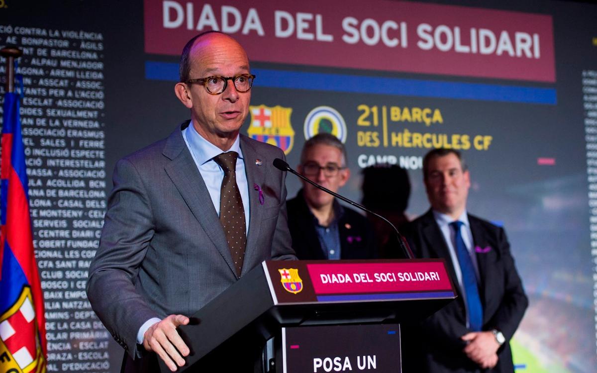 """""""Gràcies a les entitats col·laboradores, podem oferir futbol al Camp Nou a col·lectius socials més necessitats"""""""