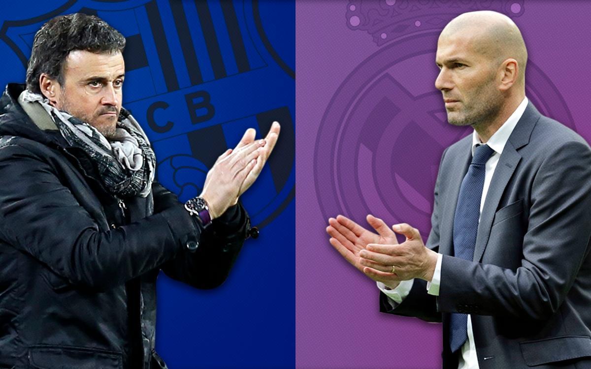 Luis Enrique y Zidane: nuevo cara a cara en los banquillos