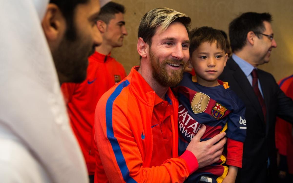 El emotivo encuentro de Murtaza Ahmadi y Leo Messi en Qatar