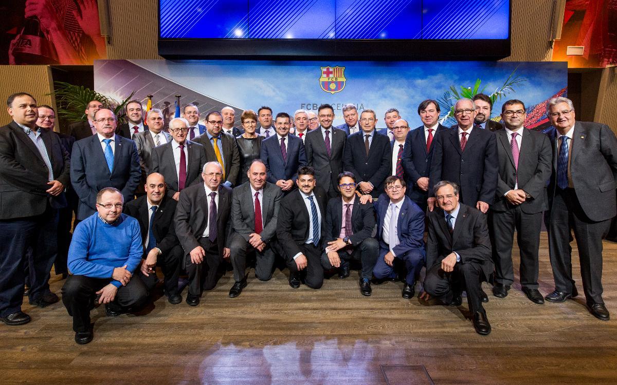 Bartomeu asistió al último plenario del año de la Confederación Mundial de Peñas