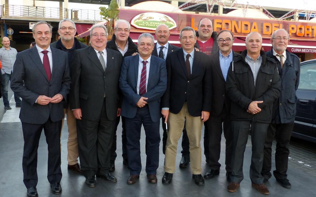 Pau Vilanova asiste a la tradicional comida de Navidad con la Agrupación