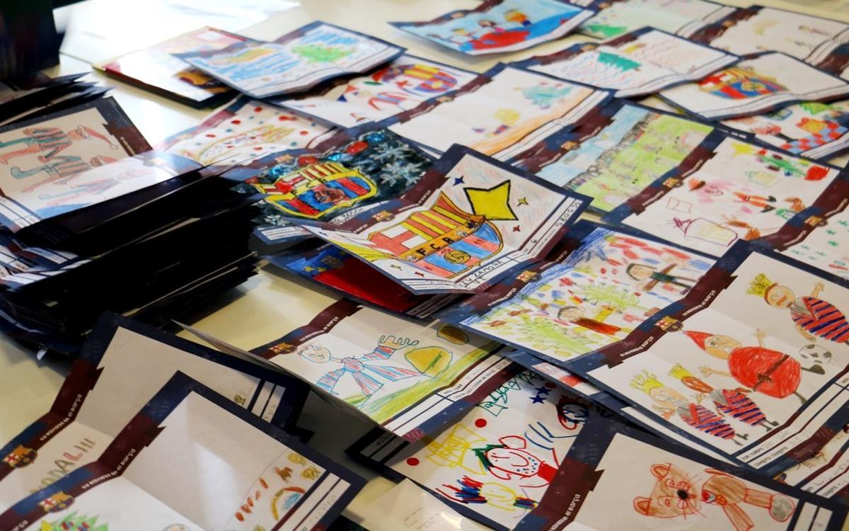 La XII Muestra de Christmas Blaugrana escoge los dibujos ganadores