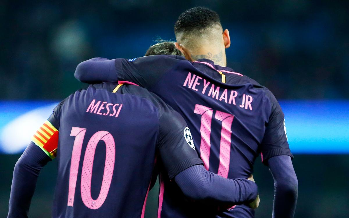 best sneakers b1432 8589e FC Barcelona's Neymar Jr and Leo Messi, up for the 2016 ...