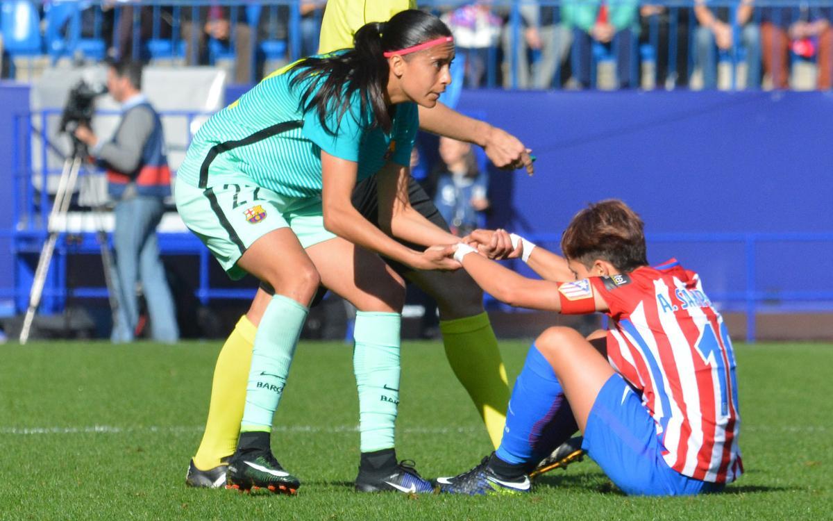 Atlético de Madrid v Barça Women: Slip up at the Calderón (2-1)