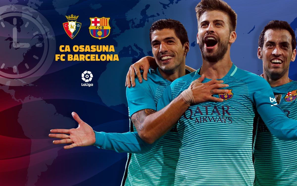 Cuándo y dónde se puede ver el Osasuna - FC Barcelona