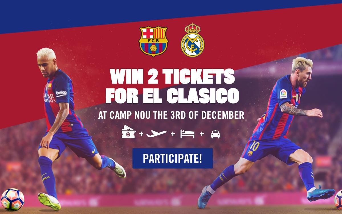 Win a trip to see El Clásico at Camp Nou