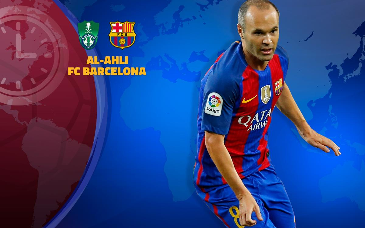 When and where to watch Al Ahli v FC Barcelona