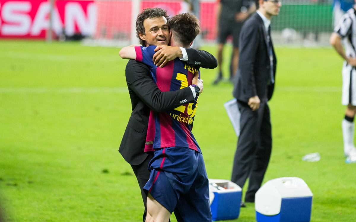 One goal away from the 400 mark under Luis Enrique