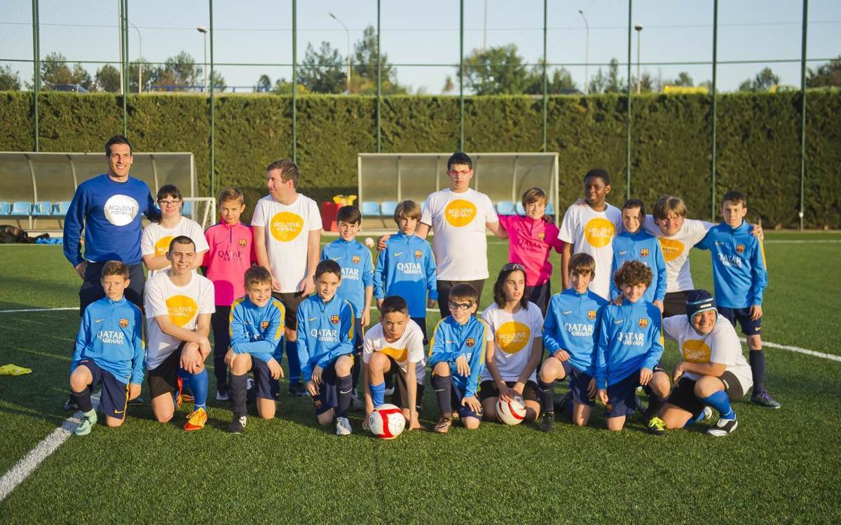 El Benjamín C de Albert Puig representará al Club en el II Día del Fútbol Inclusivo