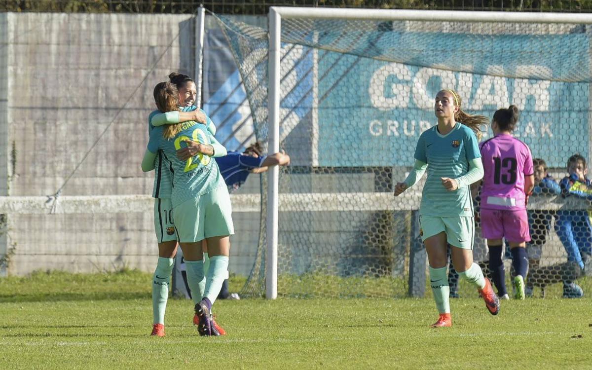 Oiartzun KE - FC Barcelona Femenino: Triunfo trabajado para mantener el liderato (0-1)
