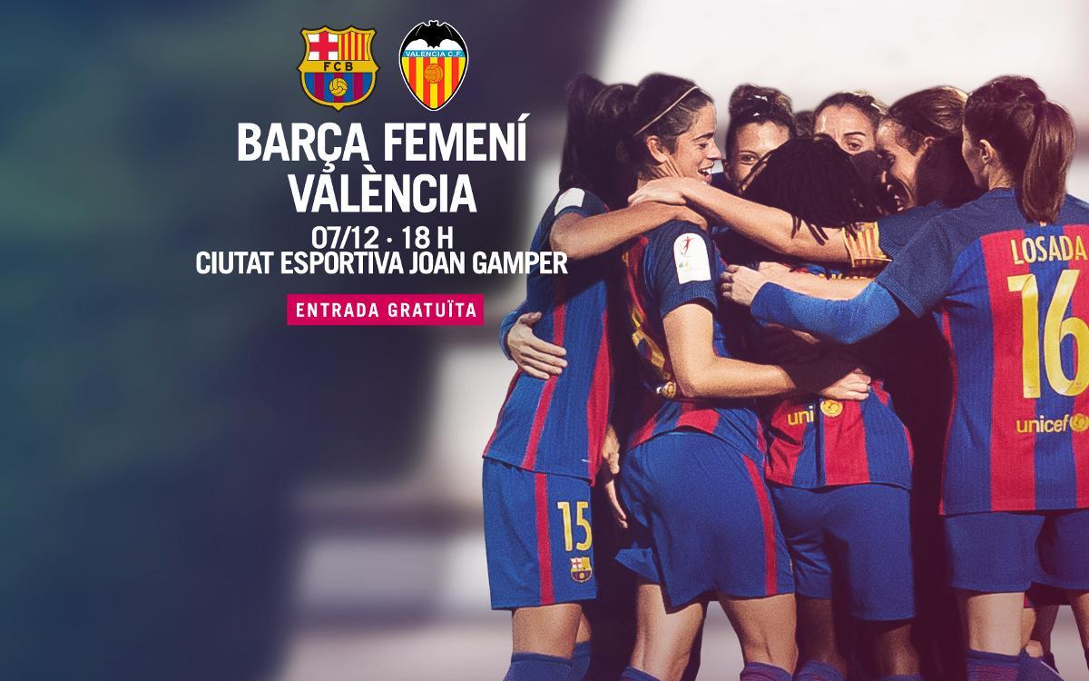 FC Barcelona Femení – València CF (prèvia): La primera pedra