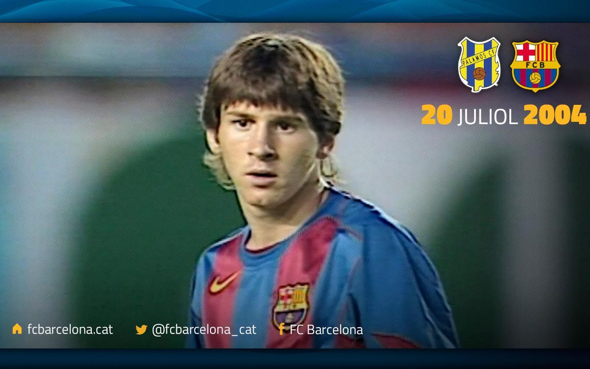 メッシがFCバルセロナと共に最初に決めたゴール
