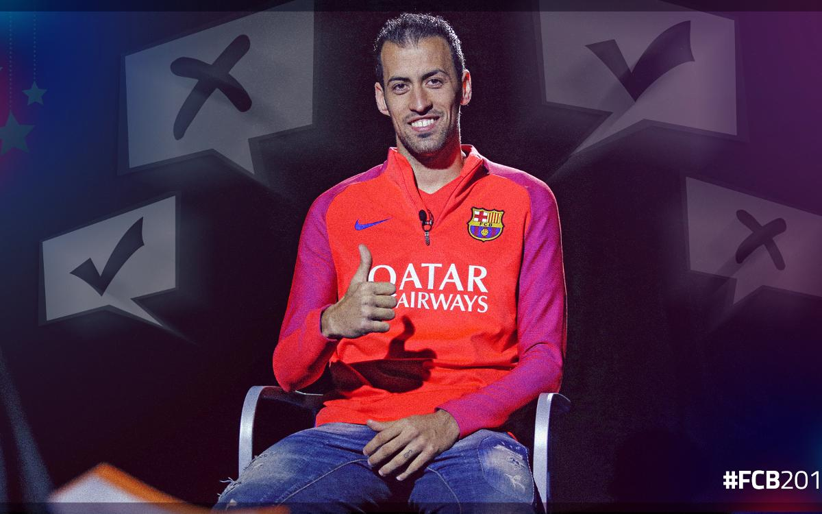 The test on Sergio Busquets' 400 matches