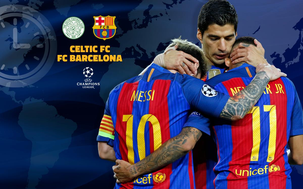 When and where to watch Celtic v FC Barcelona